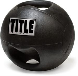Title Double Handle Rubber Medicine Ball 10 Lbs